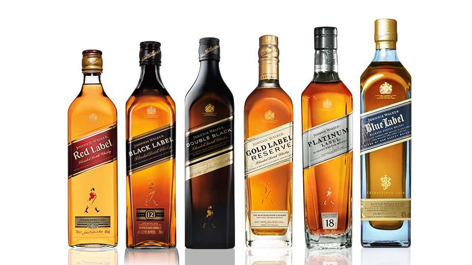 variedad de licores nacionales e importados whisky